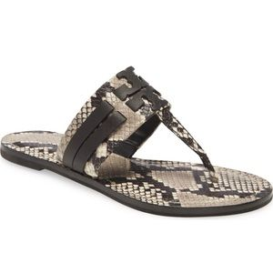 New Tory Burch Leigh Leather Snake Flip Flop 10.5